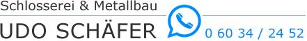 Schlosserei & Matallbau Udo Schäfer Logo